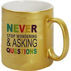 Sublimation Golden Ceramic Mug