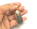 Natural White Agate Gemstone Pendants