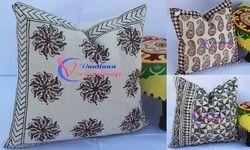 Block Print Rug Cushion Cover