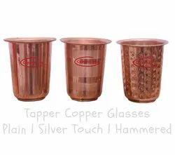 Plain Pure Copper Tepper Glasses