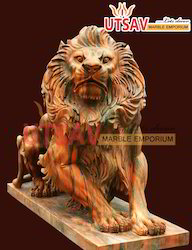 Sand Stone Lion Statue