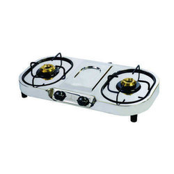 Stainless Steel Two Burner Gas Stove