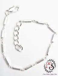 Sterling Silver Plain Baby Bracelets