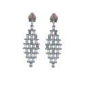 Tourmaline Gemstone Diamond Earrings