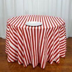 Poplin Striped Table Cloth