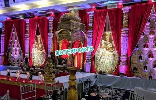 Wedding Stage Decoration Radha Krishna Stage For Indian Wedding