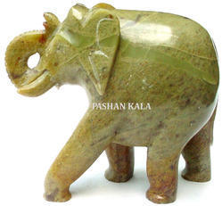 Soapstone Elephant Sculpture