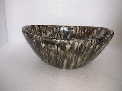 17x13 Ceramics Brown Washbasin