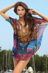 Digital Printed Beachwear Kaftan