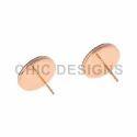 Pink Rhodium Stud Earrings
