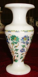 Marble Vase with Inlay Art Work