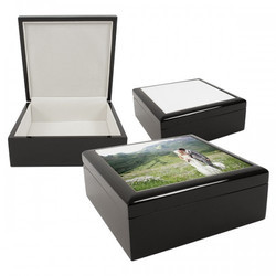 Jewelry Box With Ceramic Tile