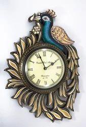 Peacock Design Clock