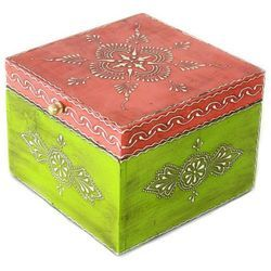 Wooden Box With Emboss Work