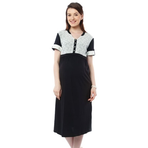 Smart Casual Black Formal Maternity Dress With Lace Ecommerce Shop