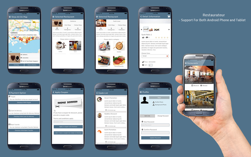 Mobile Apps Android App For Restaurant Table Booking Service - Restaurant table app