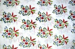 Hand Block Cotton Fabric Jaipuri Print Floral Printed Fabric Indian Printed