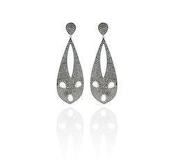 Moonstone Drop Design Earrings