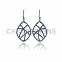Blue Sapphire Gemstone Hook Earrings