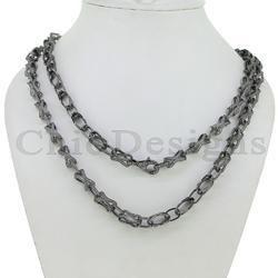 Diamond Designer Link Chain Necklace