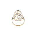 Yellow Gold Filigree Diamond Ring