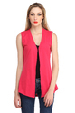 Solid Sleeveless Cotton-Knit Summer Shrug
