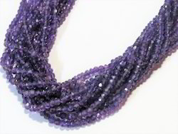 Amethyst Faceted Rondelle Stone Beads