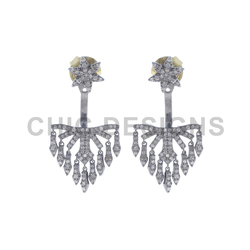 925 Silver Chandelier Ear Jacket