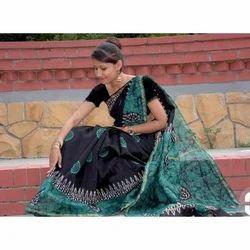 Batik Printed Chanderi Silk Sarees