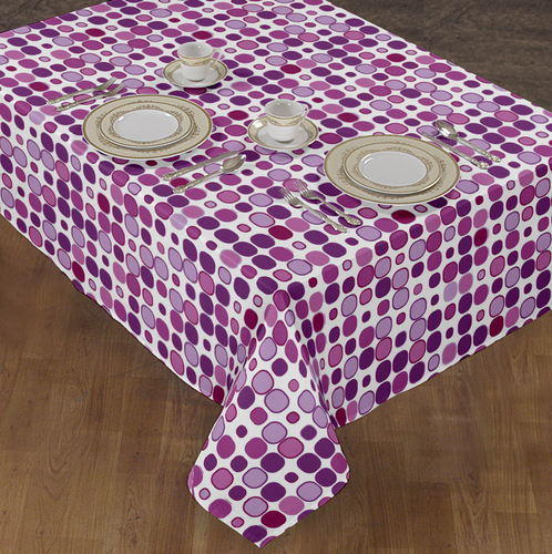 cotton printed tablecloths table cloth purple manufacturer from karur