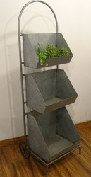 Galvanized Planter Trolley