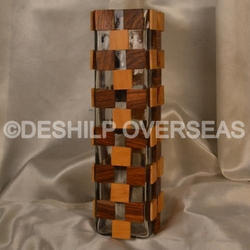 Wood & Glass Vases