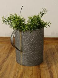 Galvanized Indoor- Outdoor Brass Welded Planter With Handles
