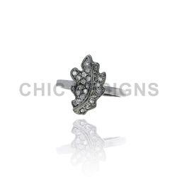 Diamond Designer Leaf Mid Ring