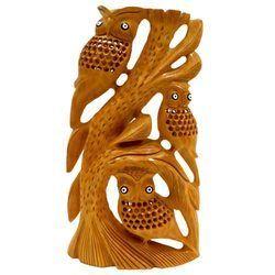 Wooden Undercut Work Owl Tree