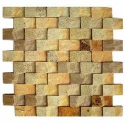 Yellow Mint Sandstone wall cladding Mosaic tiles