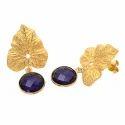 Blue Topaz Quartz Earring