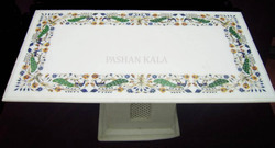 White Marble Inlay Table