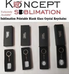 Sublimation Glass Crystals Keychains