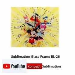 Sublimation Glass Frame BL 26