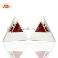 Designer Gemstone 925 Silver Stud Earrings
