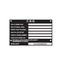 Number Plate Suppliers >> Anodized Metal Printed Label - Name Plate for Electric Panel Manufacturer from New Delhi