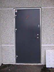 Glazed Metal Door