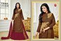 Printed Collar Neck Salwar Suit Fabric