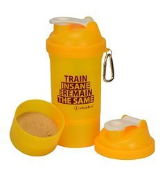 iShake vault 2 in 1 Yellow white Shaker Bottle