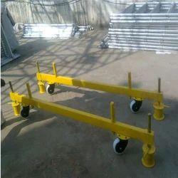 Aluminium Scaffolding On Four Brakable Wheels
