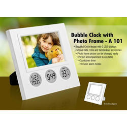 Bubble Clock With Photo Frame
