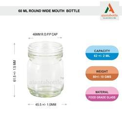 Round Wide Mouth Glass Jar