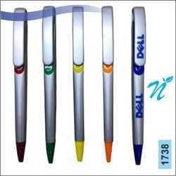 Plastic Slide Silver Pen