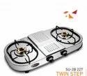 Double Burner Gas Stove SU 2B-227 TWIN STEP